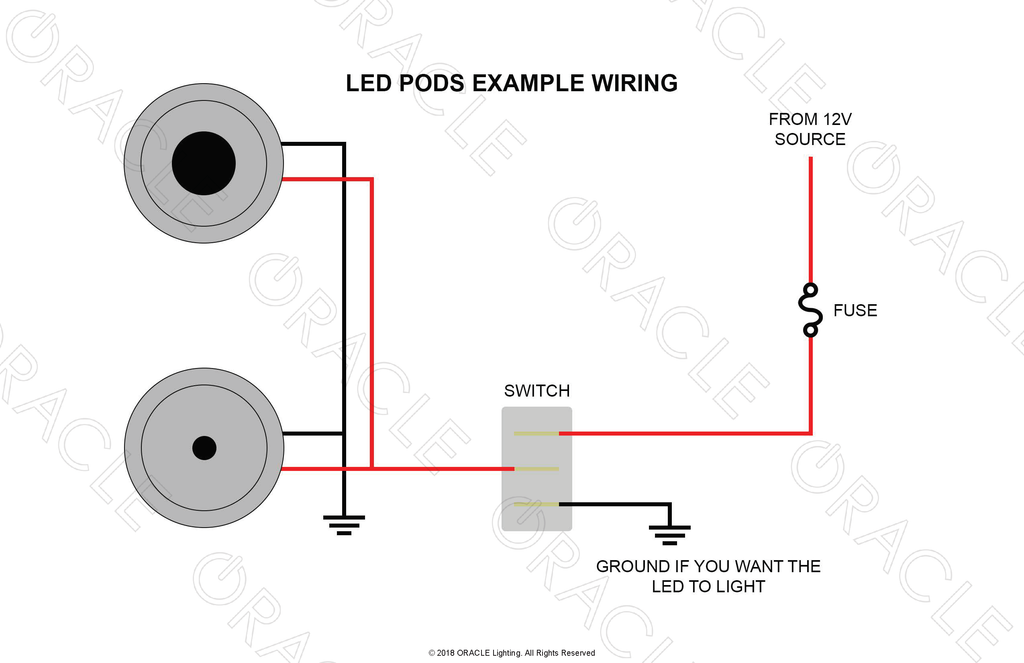 Oracle Lighting High Intensity LED Pods Wiring Example