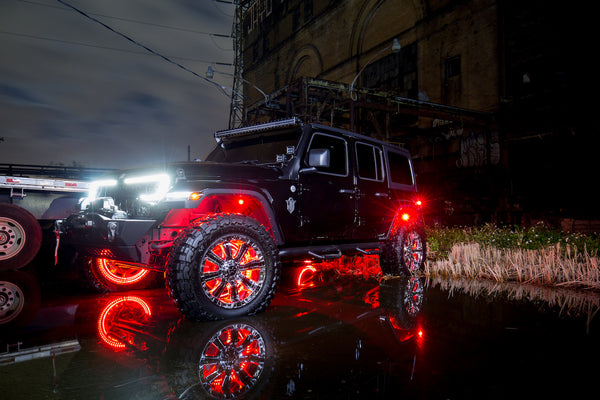 Easy install car LED lights on a Jeep Wrangler