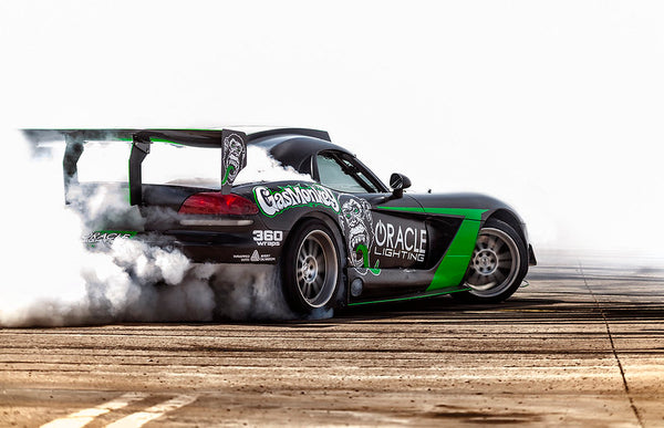 A car shows how to compete in Formula DRIFT racing