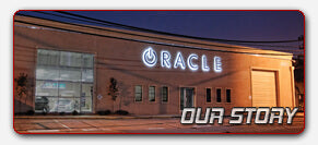 Outside shot of the building of vehicle lighting installation company Oracle Lighting in Metairie, LA