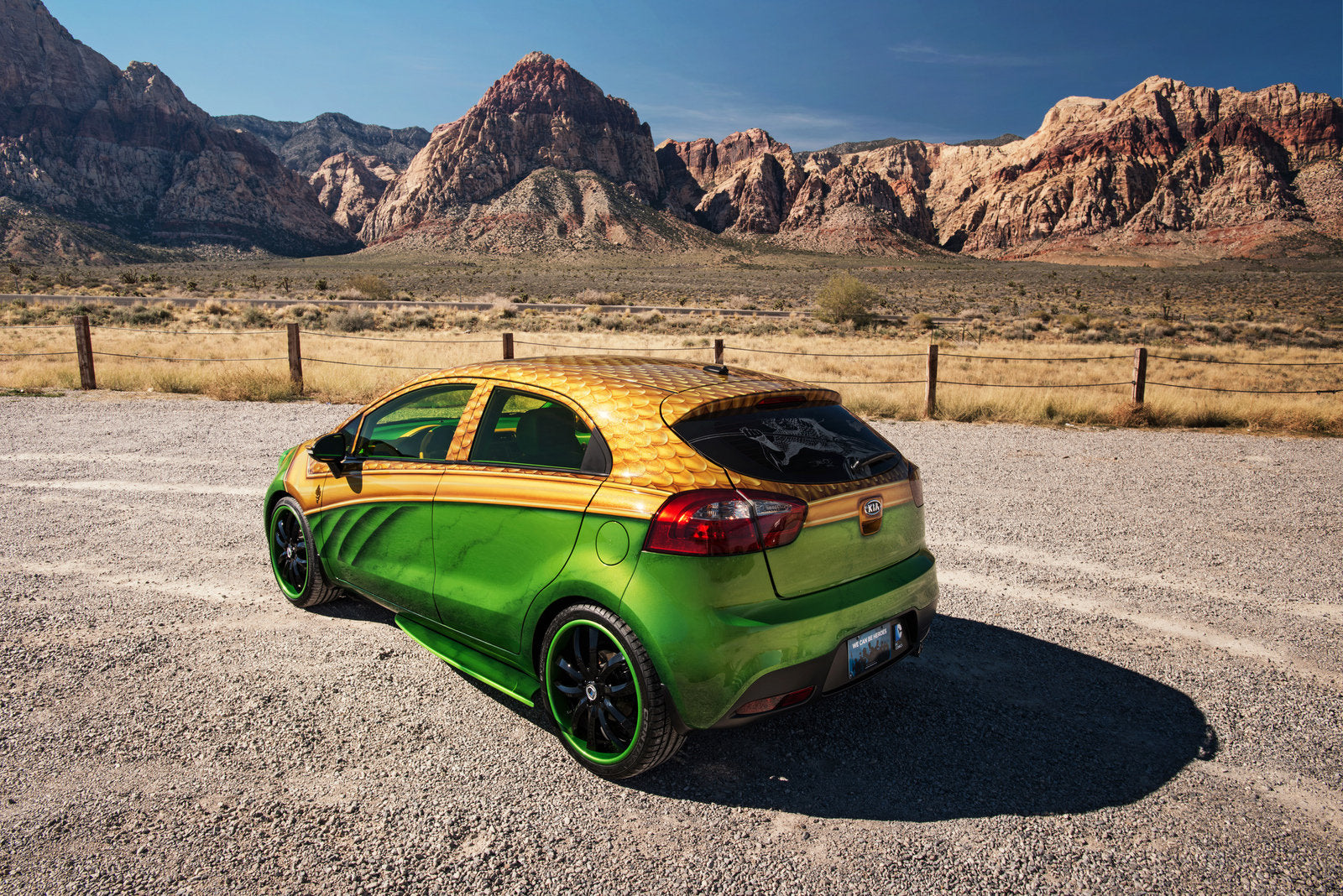 Second Silde: SEMA 2012 Kia 5-Door Rio Aquaman - Back