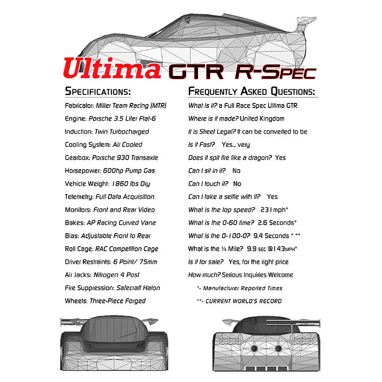 Fourth Silde: SEMA 2014 Ultima GTR - FAQ