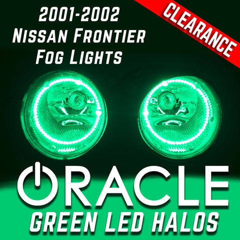 2001-2002 Nissan Frontier Fog Lights with ORACLE Green LED Halo Kit