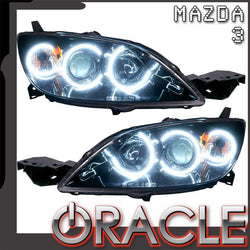 2004-2009 Mazda 3 Pre-Assembled Headlights - Hatchback/Halogen Style