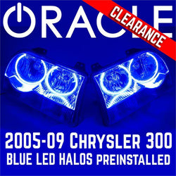 2005-10 Chrysler 300 Base Headlights - ORACLE BLUE LED Halos