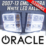 2007-13 GMC Sierra 1500/2500/3500 Headlights - ORACLE White LED SMD Halos
