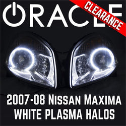 2007-2008 Nissan Maxima Headlights - ORACLE Plasma WHITE Halo Kit