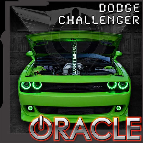 2015-2018 Dodge Challenger ORACLE LED Projector Fog Halo Kit-Waterproof
