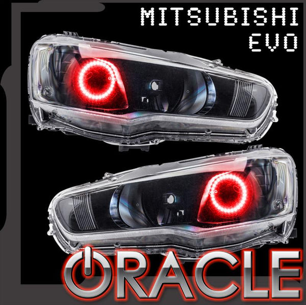2008-2016 Mitsubishi EVO ORACLE Halo Kit - Projector/HID
