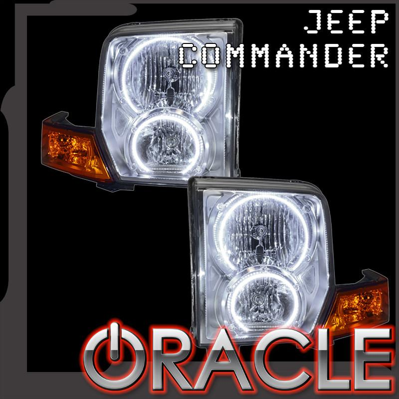 2006-2010 Jeep Commander ORACLE Halo Kit  sc 1 st  Oracle Lighting & 2006-2010 Jeep Commander ORACLE Halo Kit u2013 ORACLE Lighting