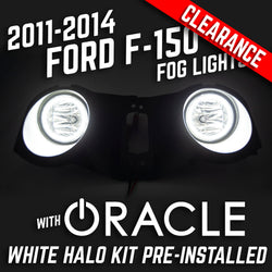 2011-2014 FORD F-150 Fog Lights - ORACLE White Plasma LED Halos Pre-Installed