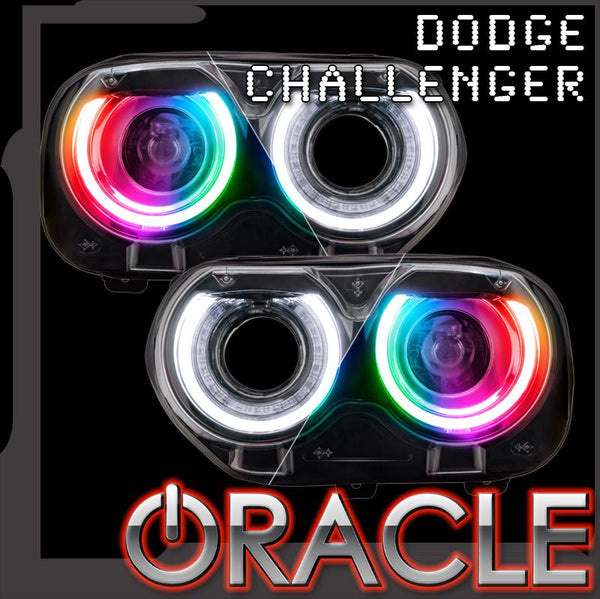 ORACLE Lighting 2015-2021 Dodge Challenger ColorSHIFT® RGB+W Headlight DRL Upgrade Kit