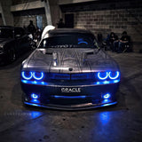 ORACLE Lighting 2008-2014 Dodge Challenger Dynamic ColorSHIFT® Surface Mount Headlight & Fog Light Halo Kit - COMBO