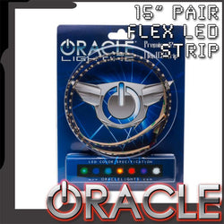 "ORACLE Exterior Flexible 15"" SMD Strips - Pair"