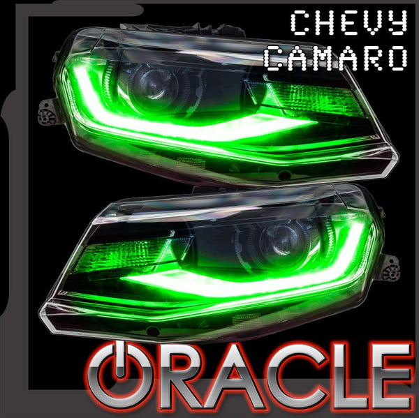 ORACLE Lighting 2016-2018 Chevrolet Camaro ColorSHIFT® RGB+W Headlight DRL Upgrade Kit