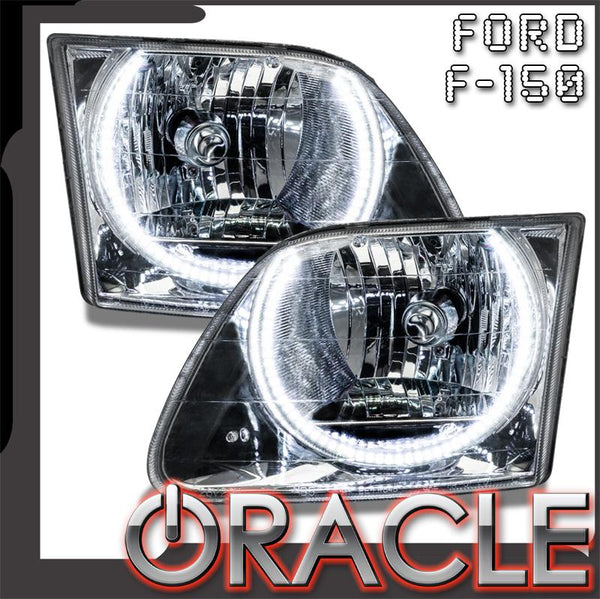 1997-2003 Ford F-150/250 Pre-Assembled Headlights - Chrome