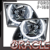 1997-2003 Ford F-150/F-250 Super Duty Pre-Assembled Headlights - Chrome