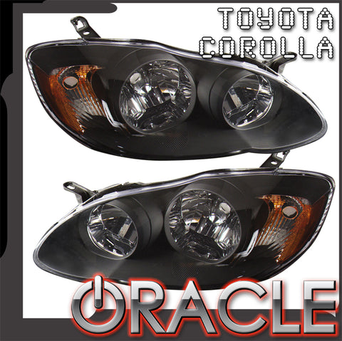 2003-2004 Toyota Corolla S-Type Pre-Assembled Headlights-Black