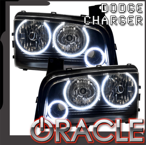2005-2010 Dodge Charger Pre-Assembled Headlights - Non HID - Triple Halo
