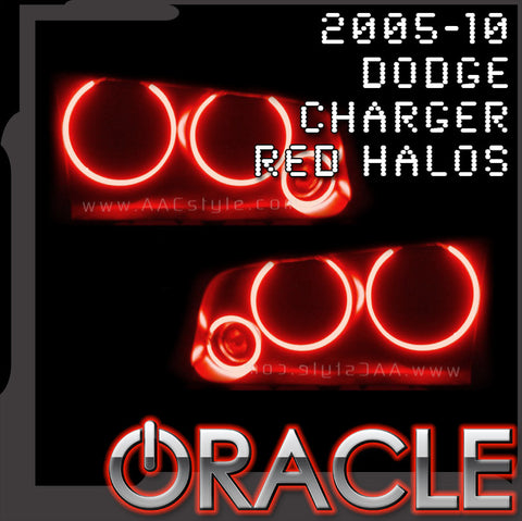 2005-2010 Dodge Charger RED ORACLE Brand Halo Kit