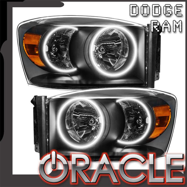 2007-2008 Dodge Ram Pre-Assembled Headlights - Black