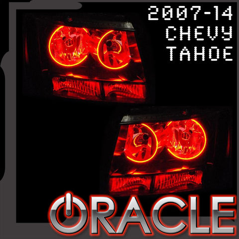 2007-2014 Chevy Tahoe RED ORACLE Halo Kit