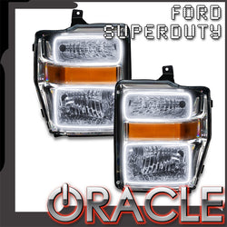 ORACLE Lighting 2008-2010 Ford F-250/F-350 Super Duty Pre-Assembled Headlights - Chrome