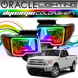 2009-2014 Ford F150/Raptor ORACLE Dynamic ColorSHIFT Headlight Halo Kit
