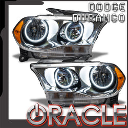 2011-2013 Dodge Durango Pre-Assembled Headlights Halogen - Chrome