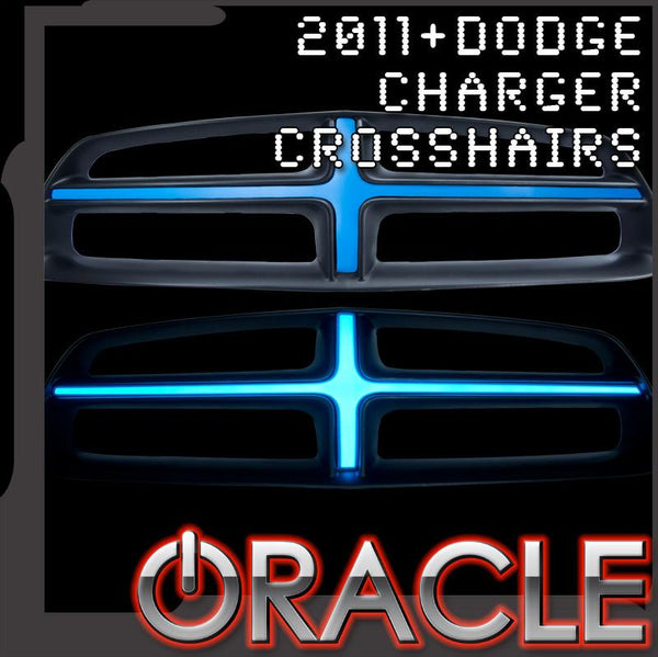 2011-2014 Dodge Charger ORACLE Illuminated Grill Crosshairs - CLEARANCE