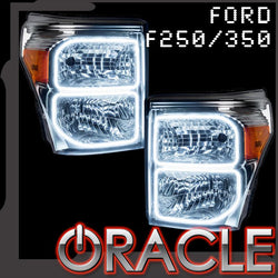 2011-2016 Ford F250/350 ORACLE Halo Kit (Square Ring Design)