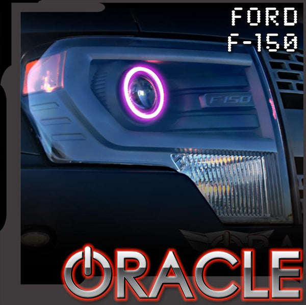2013-2014 Ford F150/Raptor Projector/HID Style ORACLE Headlight Halo Kit
