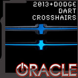 2013-2016 Dodge Dart ORACLE Illuminated Grill Crosshairs - CLEARANCE