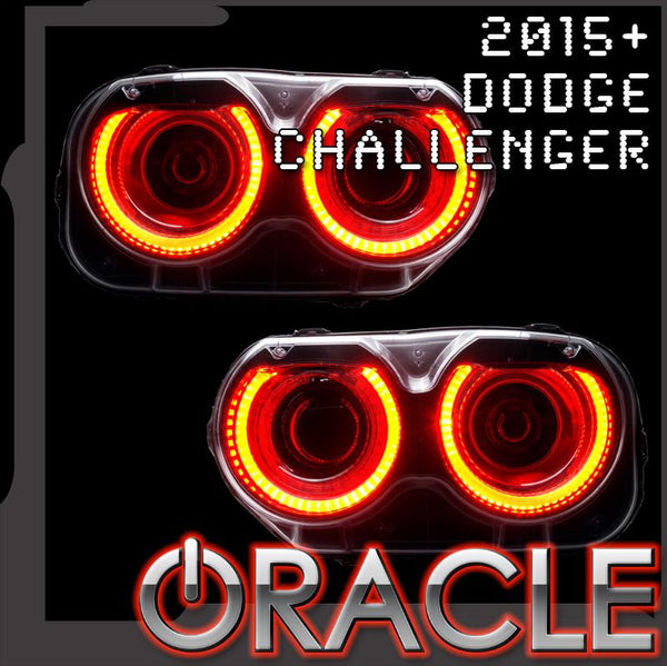 2015-2021 Dodge Challenger ORACLE Headlight Halo Kit - Standard Mount