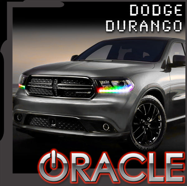 2016-2018 Dodge Durango ORACLE Dynamic ColorSHIFT RGBW Headlight DRL Kit