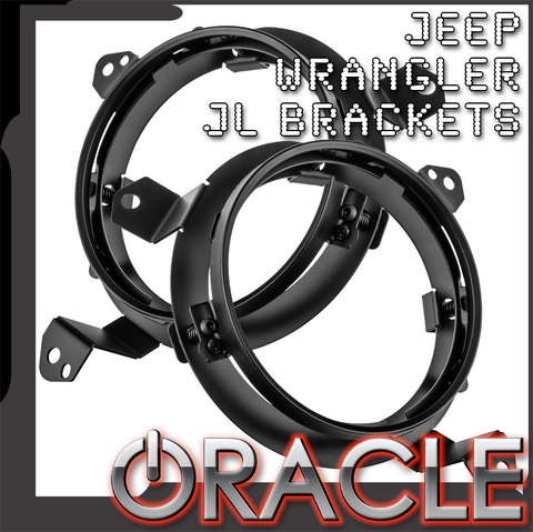 "ORACLE 2018-2019 Jeep Wrangler JL Adjustable 7"" Headlight Brackets (Pair)"