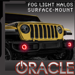 2018-2019 Jeep Wrangler JL ORACLE LED Surface Mount Fog Light Halo Kit