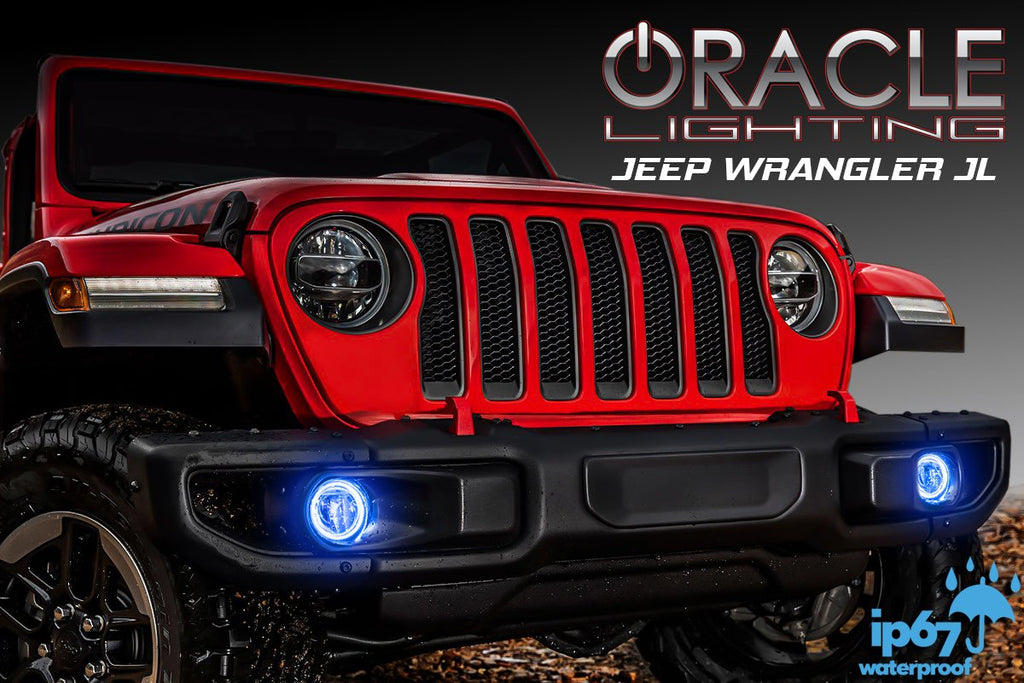 Jeep Wrangler Fog Lights >> 2018 2019 Jeep Wrangler Jl Oracle Led Surface Mount Fog Light Halo Kit