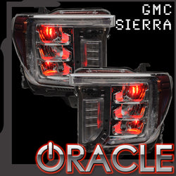 2020-2021 GMC Sierra 2500/3500 ORACLE ColorSHIFT RGB Demon Eye Headlight Upgrade