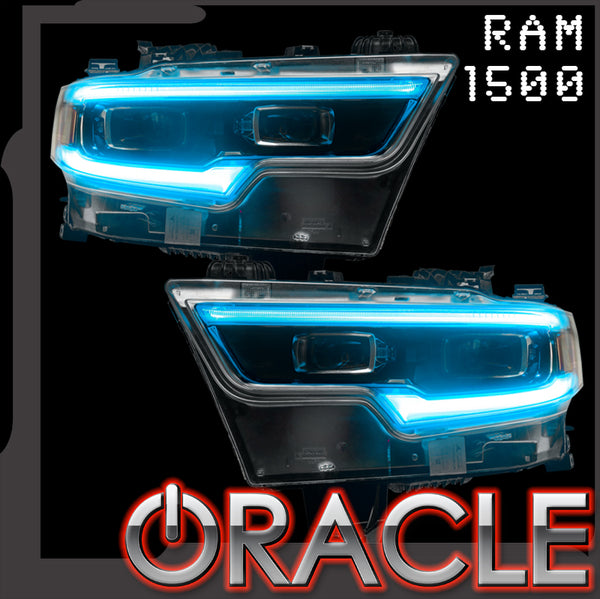 2019-2021 Ram 1500 ORACLE RGB+W Headlight DRL Upgrade Kit - Projector LED Headlights - PRE-ORDER