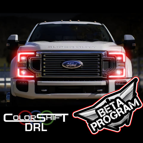 2020-2021 Ford Super Duty ORACLE Dynamic ColorSHIFT Headlight DRL Upgrade - BETA Program