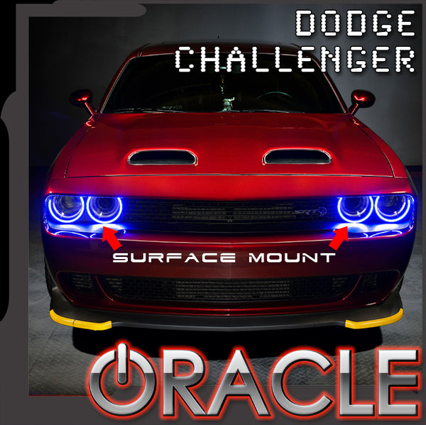 ORACLE Lighting 2015-2021 Dodge Challenger LED Surface Mount Headlight Halo Kit