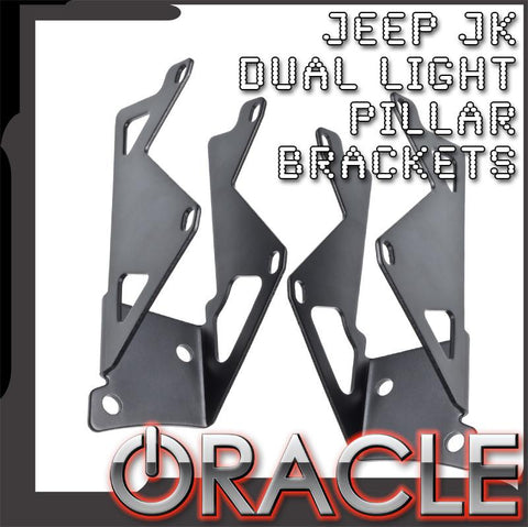 ORACLE Jeep JK Dual Light Mounting Pillar Brackets (Pair)