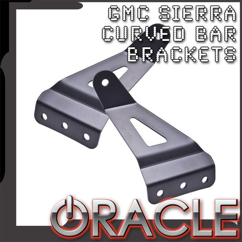 "2007-2013 GMC Sierra ORACLE Curved 50"" LED Light Bar Brackets"