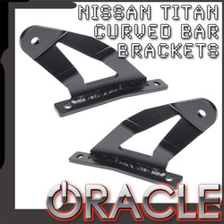 "2004-2014 Nissan Titan ORACLE Curved 50"" LED Light Bar Brackets"