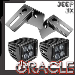 ORACLE Jeep JK Lower Windshield Light Mount Brackets + Lights Combo