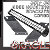 ORACLE Jeep JK Hood Mounting Brackets SM + Light Combo