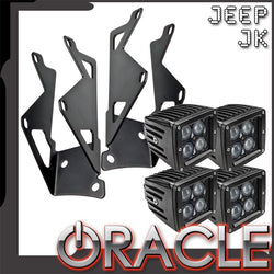 ORACLE Jeep JK Dual Light Mounting Pillar Brackets + Lights Combo