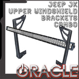 ORACLE Jeep JK Upper Windshield Brackets + Light Combo