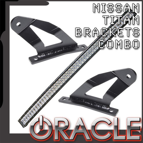 "2004-2014 Nissan Titan ORACLE Curved 50"" LED Light Bar+Brackets Combo"